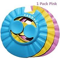 Baanuse Champú segura Ducha Baños Bañera Proteger Suave Gorra Sombrero por Bebé Niños niños, rosado