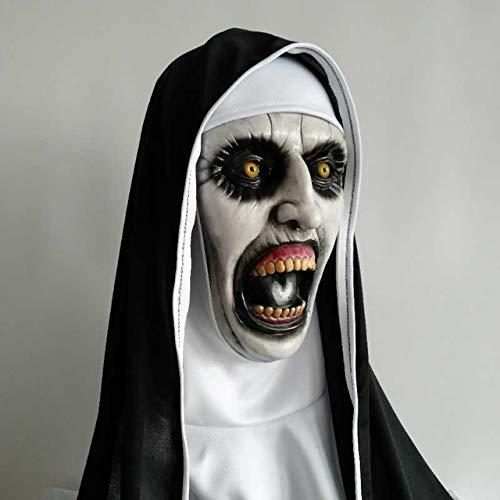 1Die Nonne Horror Maske LED Cosplay Valak Scary - Einzigartige Gruppe Kostüme Für Halloween