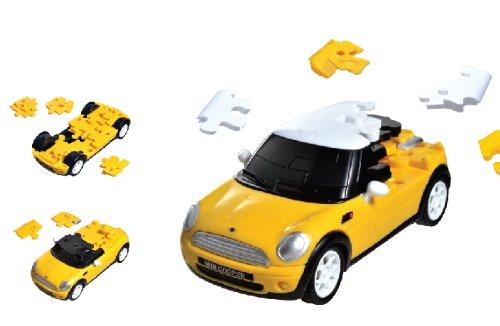 Puzzle Fun 3D 80657074 - Mini Cooper, gelb (Mini Maßstab Im Modell Cooper)