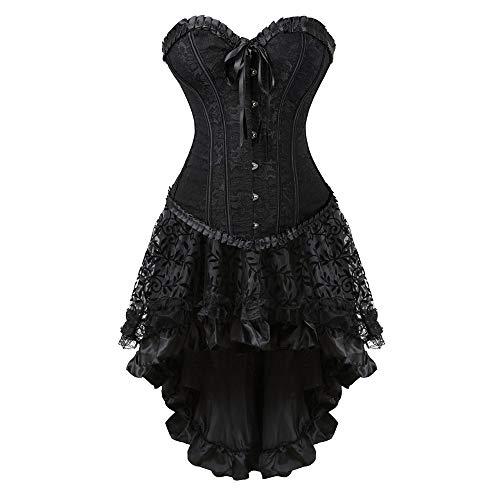 7c6949a277 Liyukee S-6XL Medieval Gothic dress women sexy corset up corset gothic  corset dress with