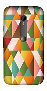 Timpax Protective Hard Back Case Cover Printed Design : Colourful Pattern.Specifically Design For : Motorola Moto-G-3 ( 3rd Gen )