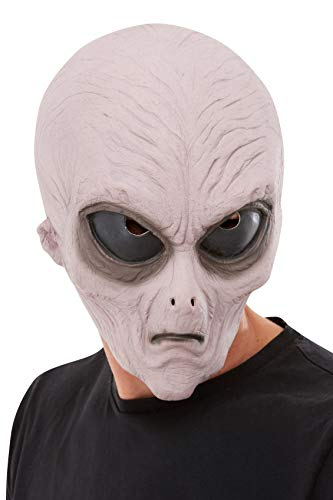 Smiffys 50828 Alien Latex Maske, unisex, Erwachsene, Violett