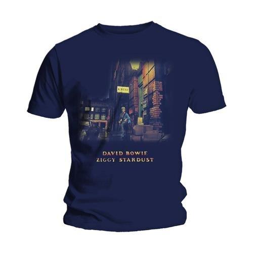 Bravado - Camiseta de David Bowie para hombre, Azul (Blau - Navy...