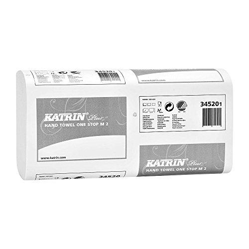 Katrin 345201Plus Qualität Interleaved One Stop Handtücher, 2-lagig, weiß (Stück 3024)