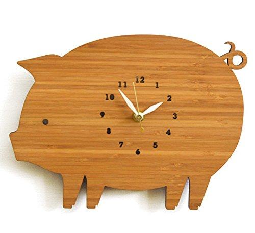 Unbekannt Leise Quarz Wanduhren Süßes Schwein Wall Clock