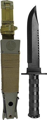 normani Taktisches Messer/Kampfmesser 'Survival' Farbe Schwarz