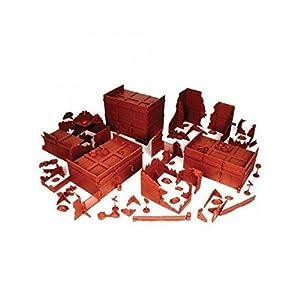Mantic Games MGTRB07 20th Century Brick Ruined City - Figura Decorativa, Color Rojo