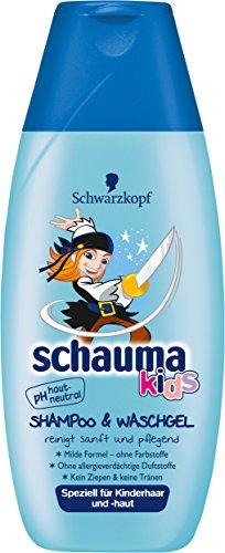 Schwarzkopf Schauma Kids Shampoo & Waschgel, 5er Pack (5 x 250 ml)