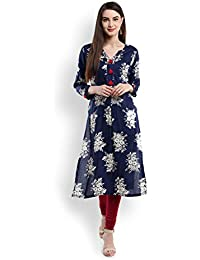 Viscose Rayon Printed Kurta With Tassel