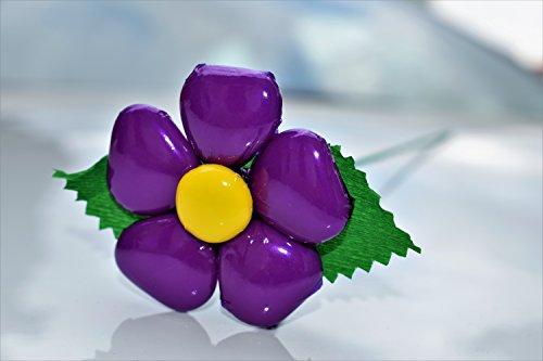 Margherita cuore - fiore di confetto - confetti pelino di sulmona (viola)
