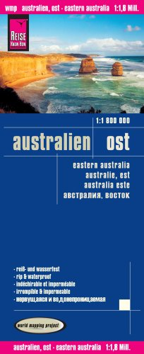 Reise Know-How Landkarte Australien, Ost (1:1.800.000): world mapping project (118m) (Map-tasmanien)