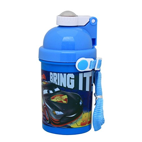 Disney Pixar Cars Pop Up Kunststoff Flasche Saft Drink Wasser Reise Kinder Jungen Blau