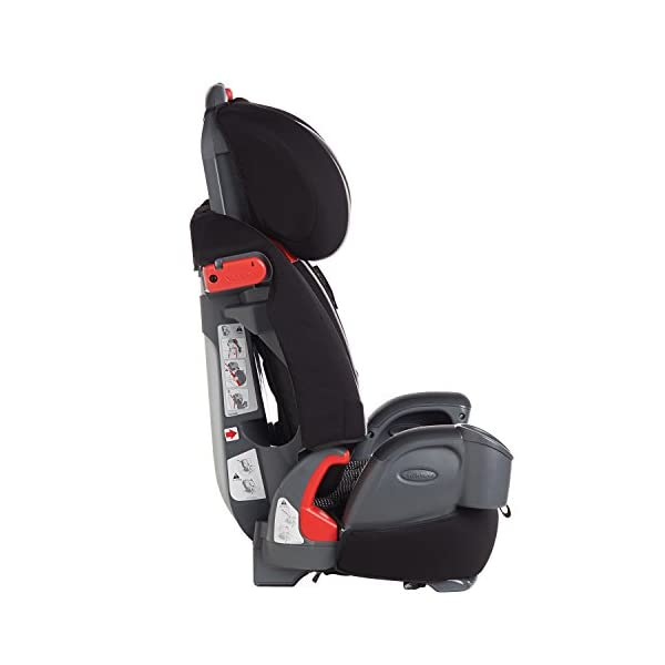 Graco Nautilus Harnessed Booster Car Seat Group 1/2/3, Gravity Graco 3-in-1 convertible car seat For children 9 to 36 kg (approx. 9 months to 12 years) Convenient one-hand height-adjustable headrest 5