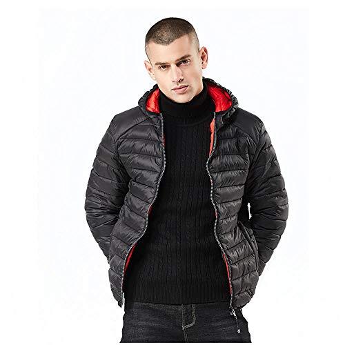 Bmeigo giacca imbottita da uomo con cappuccio piumino invernale con cerniera invernale