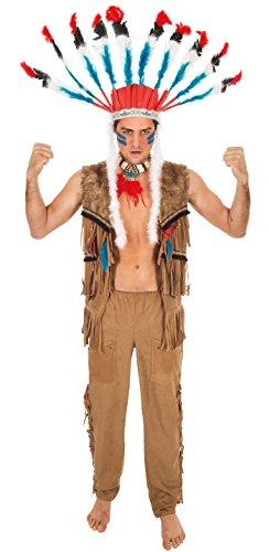 Erwachsenen Kostüm Indischen Für - Chaks c4269m, Kostüm indischen Sioux Erwachsene, Größe M