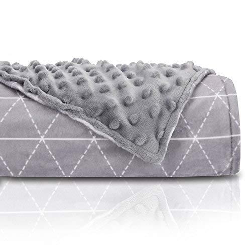 rocabi Premium Beschwerte Decke für Erwachsene 10 lbs Grau (Queen Kinder Bettbezug)