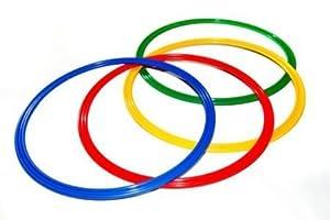 agility sport pour chiens - lot de 4 cerceaux Ø 60 cm, 4 coloris - 4x R60ybrg