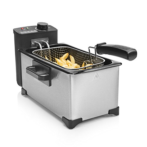 Tristar fr-6945 friggitrice, 3 litri, black, stainless steel
