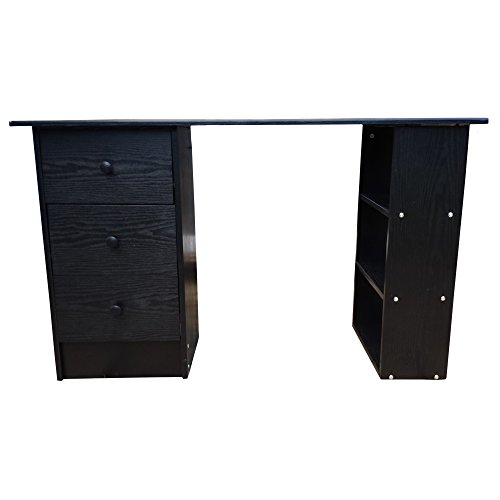 redstone computer desk black white beech walnut 3 drawers 3 shelves home office table workstation cheap uk chair store cheap office drawers