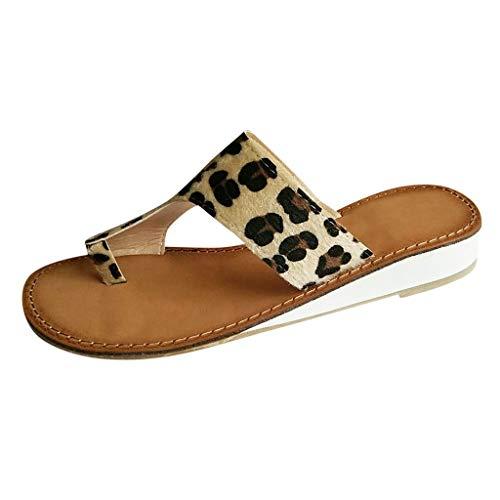 HROIJSL Damenmode Freizeit Größe Flache Sandalen Schuhe Slipper Drag Pantolette Unisex - Erwachsene Hausschuhe rutschfeste Sohle Damen Comfort Memory Foam Patent Pantoletten -