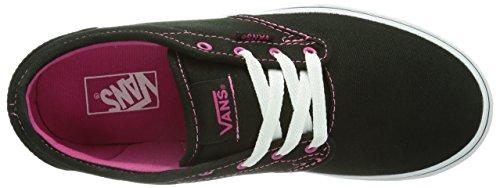 Vans Z Atwood, Baskets mode filles Noir (Canvas Black/Pink)