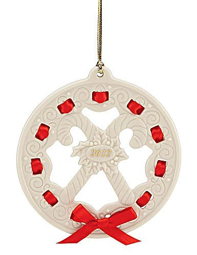 Lenox Christmas Ornament, 2012 Christmas Wrappings Candy Canes Candy Lenox