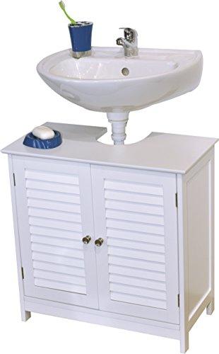 Mueble para debajo del lavabo o fregadero 2 puertas y 1 estanter a estilo colonial - Mueble para debajo del lavabo ...