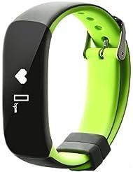 Bracelet Connecté, Nonmon Montre Contectée Moniteur de Tension Artérielle Compatible avec Smartphone Android et iOS