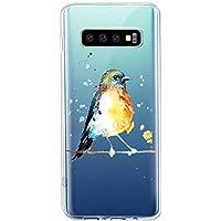Oihxse Compatible con Samsung Galaxy A320/A3 2017 Funda Suave Gel TPU Silicona Cristal Transparente Carcasa Acuarela Animal Pintado Patrón Protectora Estuche Bumper Caso Case (B10)