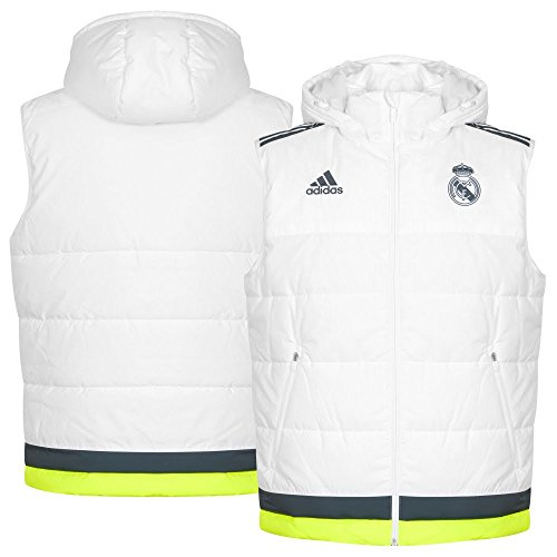 adidas Real PAD Vest - Chaleco para hombre, color blanco / gris / lima, talla XXXL