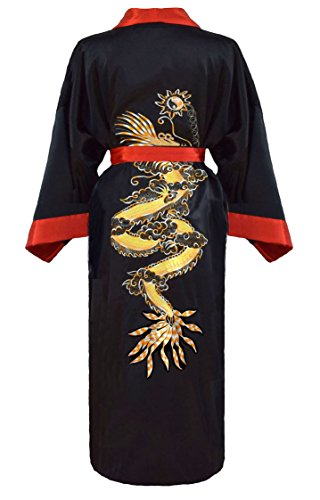 Herren japanischer Morgenmantel Kimono umkehrbar - 3
