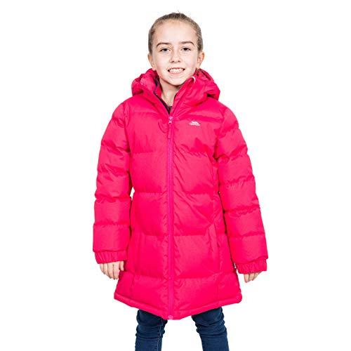 Trespass Tiffy, Raspberry, 3/4, Warme Gepolsterte Wasserdichte Jacke mit abnehmbarer Kapuze für Kinder / Mädchen, 3-4 Jahre, Rosa / Pink (Damen-jacke Kleinkind Rosa Für)