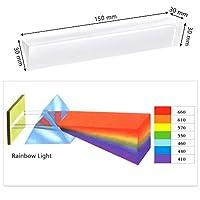 YOTINO Prisma Cristal Prisma Cristal Triangular 15cm Refractor Óptico con Caja para Enseñar Física de Espectro de Luz, Cristal Prisma Luz de YOTINO