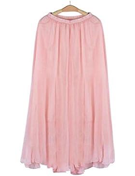 faldas largas,Gusspower falda larga de tul plisada tutu malla de noche fiesta moda cintura elástica para mujer