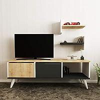Bravo Melamine TV Table - White, H40 x W120 x D30 cm