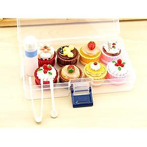 Kontaktlinsenbox mit großem Ausstellungs-Sammler, 4 Stück
