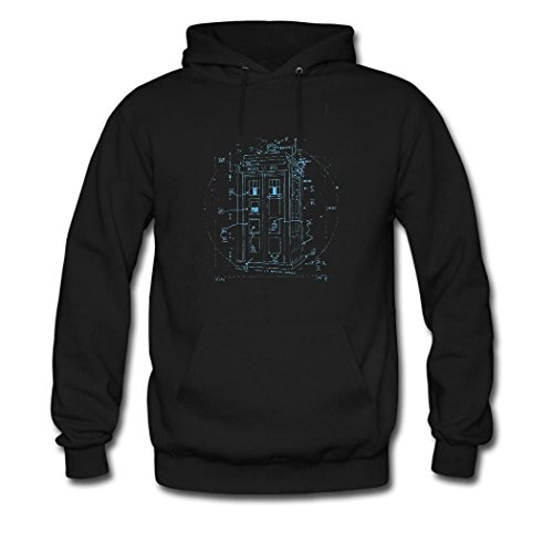 HKdiy police box Custom Men's Classic Hoodie Black