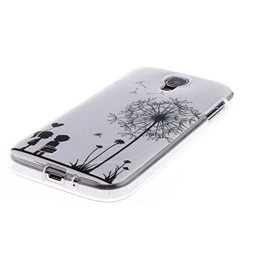 Samsung Galaxy S4 hülle MCHSHOP Ultra Slim Skin Gel TPU hülle weiche Silicone Silikon Schutzhülle Case für Samsung Galaxy S4 I9500 - 1 Kostenlose Stylus (Löwenzahn sich verlieben (Dandelions Fall in L Löwenzahn sich verlieben (Dandelions Fall in Love)