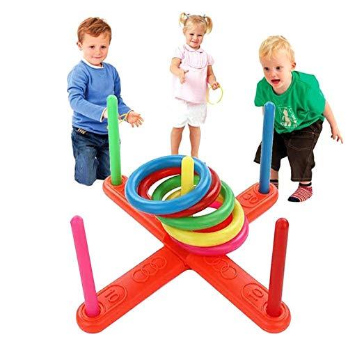Quoits Set Ring Toss Spiele Outdoor Puzzle Spielzeug Großer Spaß für Kinder und Erwachsene Ring Toss Indoor Werfen Spielgeräte Set für Geburtstag Karneval Garten Outdoor Party ()