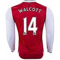 20162017Arsenal 14Theo Walcott casa manica lunga Maglia da calcio in rosso per nuova stagione, Uomo, Red, M