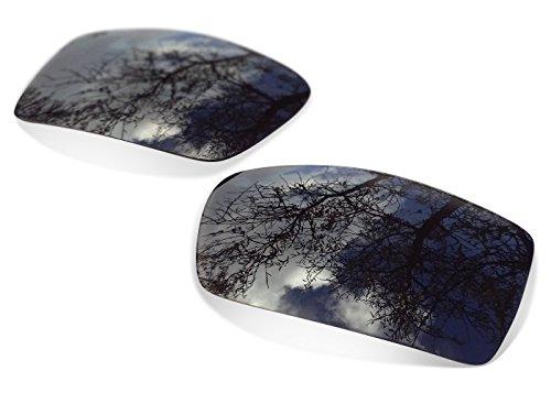 sunglasses restorer Kompatibel Ersatzgläser für Oakley Gascan, Polarisierte Black Iridium