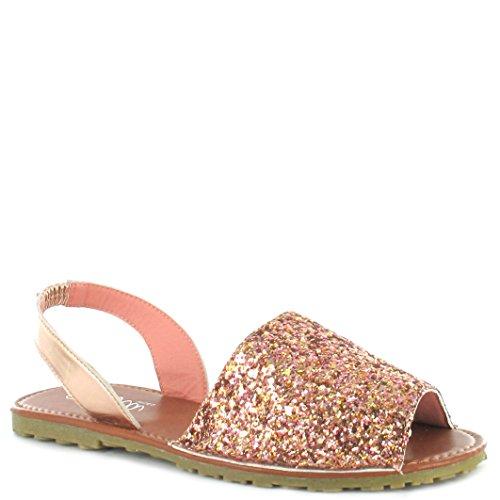 cce337bce Ella Ladies Menorcan Sling Back Open Toe Flat Spanish Summer Sandals Size  3-8 (UK 5 EU 38