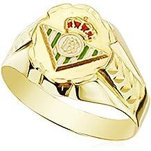 Sello tallado ovalado escudo Betis. Oro 9k. Producto Oficial. Personalizable, grabado incluido. 10x12mm