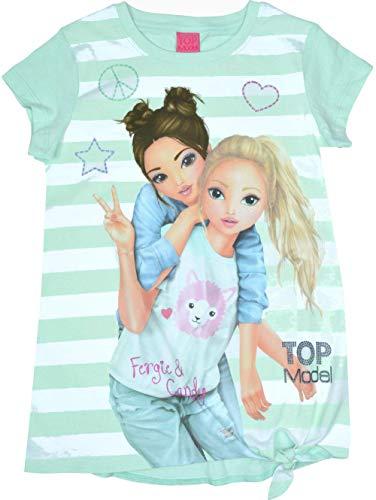 Top Model Mädchen T-Shirt Kurzarm Knoten Fergie & Candy 85054 Mintgrün (140)
