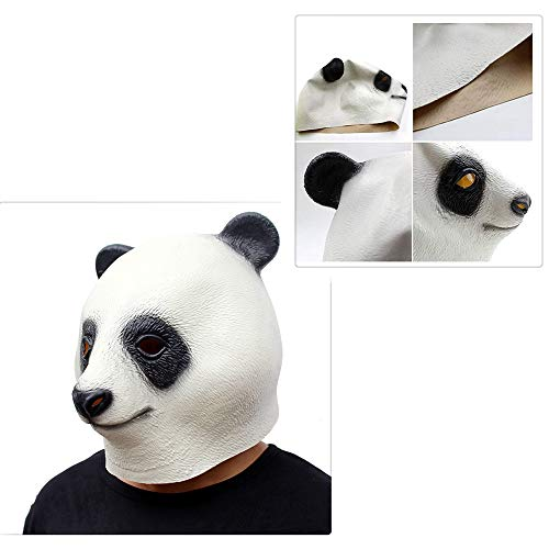 Z-one 1 Special New Latex Full Chinese Panda Head Animal Cute Mask for Mask Festival Halloween Oster- oder Tanzparty (Paar Niedlich, Halloween-kostüme Lustig,)