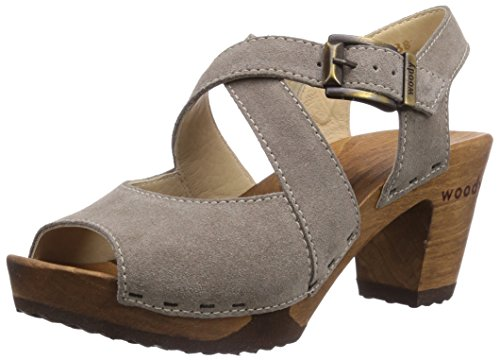 Woody Elenor, Chaussures de Claquettes femme Gris - Taupe