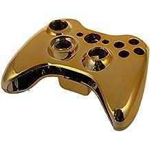 abcGOODefg® Carcasa Cromado Mando Botones Dorado Rojo Herramientas para Xbox 360