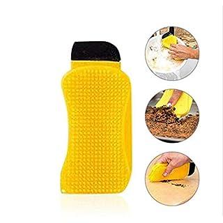 Schwamm Abwasch - Multifunktions-Silikon-Reinigungsbürste Küchengeschirrreinigungsbürste-Schaber Rakel-Reinigungswerkzeuge wiederverwendbar(1 pcs)