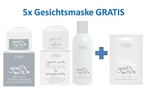 Ziegenmilch Gesichtspflege-Set mit 5 x GRATIS GESICHTSMASKE