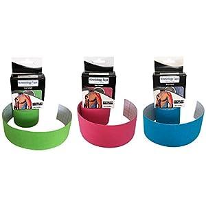 Kinesiologie Tape inklusive EBOOK in verschiedenen Farben. Kinesiotapes für Sport, Freizeit und Physiotherapie. Das Kinesiotape, Sporttape von SYNOX.